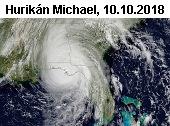 Hurikán Michael u pobřeží Floridy 10. října 2018.