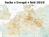 Sucho v Evropě v létě 2018