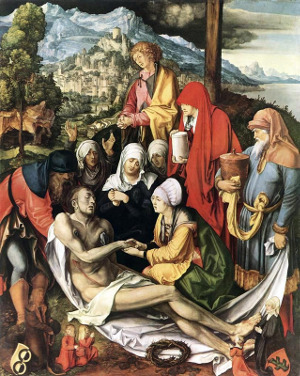 Albrecht Dürer (1471-1528) - Oplakávání Krista