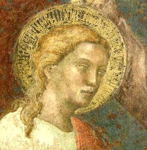 Apoštol Tomáš, fragment fresky, 14. stol. Autor: Spinello Aretino, 1350–1410