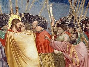 Giotto di Bondone (1267-1337 - Jidášův polibek