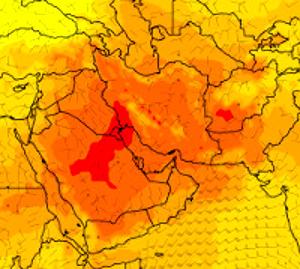 Rekordní teploty na Středním východě